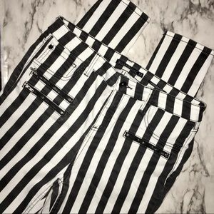 Blackheart black & white stripe jeggings SIZE 13